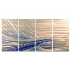 ash carl x27 blue current x27 metal wall art on metal wall art overstock with shop ash carl blue current metal wall art on sale free