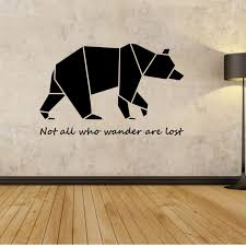 Small Picture Aliexpresscom Buy Origami Bear Wall Decal Wall Stickers Quotes