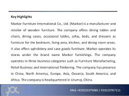 Markor international furniture co ltd pany profile and swot a…