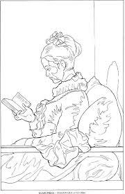 La Lectrice Fragonard Famous Paintings Coloring
