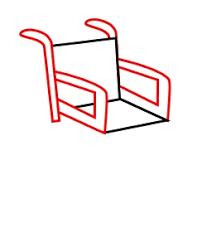 Drawing a cartoon wheelchair