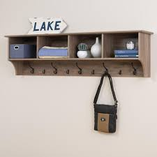 Entryway Shelf And Coat Rack Prepac Drifted Gray Wall Mounted Coat RackDEC100 The Home Depot 12