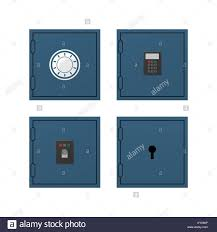 Set of safe doors with different kind of protection Stock Vector Art ...