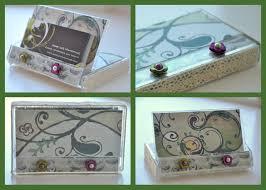 breathtaking personalized business card holder for desk cards desks organizer case womens
