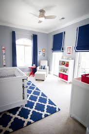 bedroom colors blue and red. boy gray and blue nursery with red color pops--- trying to see what bedroom colors o