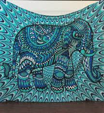 Elephant Print Throw Blanket