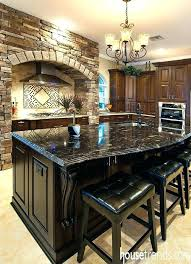 decoration kitchen island black granite top amazing wood look countertops affordable islands cherry as well