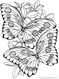 Fantasy Pages For Adult Coloring Butterfly Color Page Animal