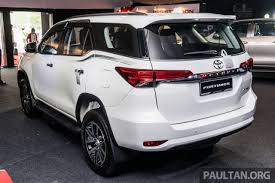 new car release 2016 malaysiaIndiabound 2016 Toyota Fortuner launched in Malaysia