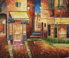 european scenes oil painting 236 europe restaurant night scene
