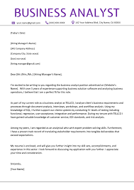 Template For Cv Cover Letter Resume Business Analyst Cover Letter Example Template Cv