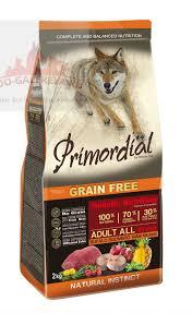 <b>PRIMORDIAL Корм сухой</b> 12кг для собак беззерновой буйвол ...