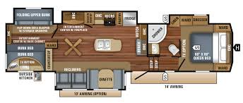 2018 eagle fifth wheels 325bhqs floorplan
