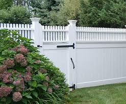 vinyl fence with metal gate. Hollow Vinyl Universal Fence With Highland Topper Metal Gate