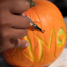 pumpkin carving tools for kids. pumpkin carving with linoleum tools for kids
