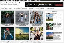 Wordpress Photo Gallery Theme Clean Gallery Pro Wordpress Theme Themesdna Com