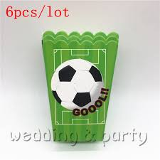 <b>6pcs</b>lot Popcorn box Football Theme Candy Box <b>Gift</b> Box for <b>Kids</b> ...