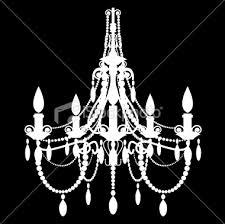 white chandelier silhouette