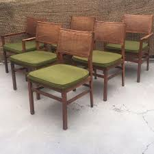 image of founders walnut cane back dining chair set