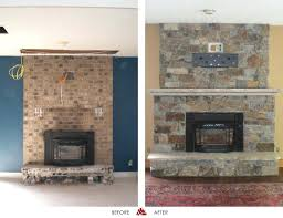 tile over brick fireplace before and after refacing a brick fireplace beautiful marvelous reface
