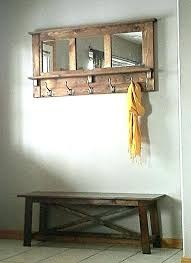 Rustic Coat Rack With Shelf entryway coat rack and storage bench 100asydollars 67