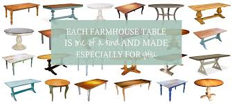 Round Table Seating Capacity Farmhouse Tables Any Size Shape Color Cottage Homer