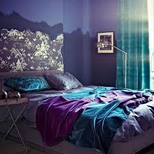 Purple And Orange Bedroom Decor Purple Bedroom Design With Orange Wall Color Combination And Small