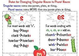 Plural Noun Rules Anchor Chart Www Bedowntowndaytona Com