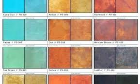 Kemiko Color Chart Concrete Stain Instructions Nirvanas Co