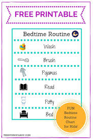 Bedtime Chart Printable Free Printable Bedtime Routine Chart For Little Kids And