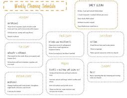 weekly house cleaning schedules weekly household cleaning schedule house schedule printable house cleaning checklist house cleaning