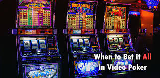 When to Bet it All in Video Poker - Low Risk High Reward Strategies