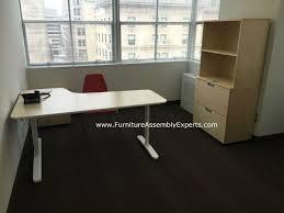 assembled office desks. Uncategorized Ikea Bekant Assembly Appealing Office Desk Galant File Cabinet And Storage Assembled Pict Desks B