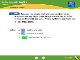 algebra 1 suppose you plan to start taking an aerobics class
