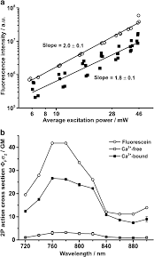 A Double Logarithmic Plot Of The Average Excitation Power Dependence