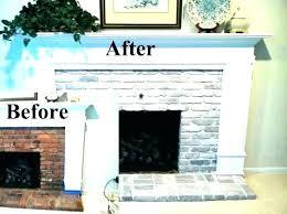brick fireplace decor white mantel ideas painted painting before and decorating brick fireplace decor