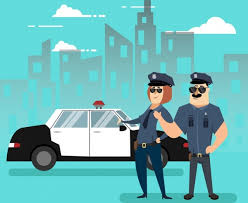 Design A Office Impressive Police Officer Icons Colored Cartoon Design Free Vector In Adobe