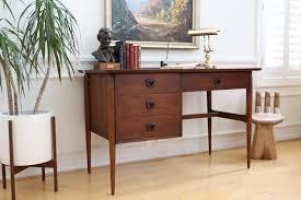 mid century modern office furniture. Mid Century Modern Writting Office Desk By Bassett Furniture Co No 382 - ShopGoldenPineapple