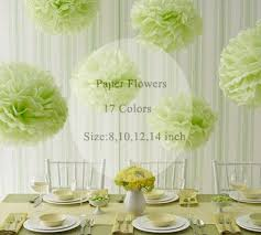 Make Tissue Paper Flower Balls 8 Inches 15 Cm Tissue Paper Pom Poms Paper Flowers Ball Pom Pom Diy