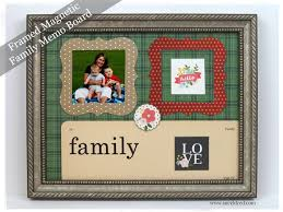 Family Memo Board Gorgeous Framed Magnetic Family Memo Board Sue's Creative Workshop