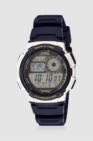 Casio Analog Watch With Light Shop Multicolour Casio Led Light Digital Sport Strap Watch For Men Nisnass Uae