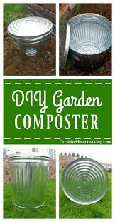 tips for making your own backyard composter from a galvanized metal garbage can