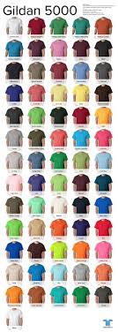 Gildan T Shirt Colors 2016 Printable Coloring Pages