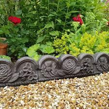 rose and thistle decorative edging black