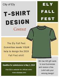 Design Contest Rules T Shirt Contest City Of Ely Iowa Elyiowa Com