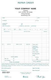 Auto Repair Form Template Mechanic Receipt Template