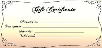 Gift Certificate Template Printable Templates For Gift Certificates Free Downloads Intended For