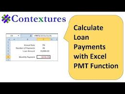 Payment Plan Calculator Excel How To Calculate Loan Payments With Excel Pmt Function Youtube