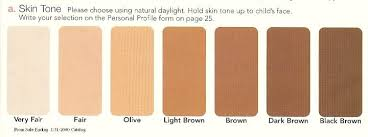 Skin Tone Color Chart Denver Era Color Charts