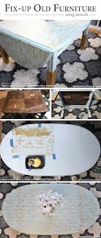 cutting edge furniture. Cutting Edge Stencils Shares A DIY Stenciled Wooden Coffee Table Makeover Using The French Poem Craft Furniture